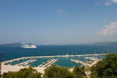 Harbor Pylos in Greece Stock Photo