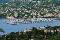Harbor of Rapallo Stock Images