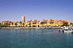 Harbor on the Red Sea. Harbor and marina on the Red Sea in Hurghada Royalty Free Stock Images