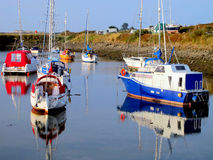Harbor Reflections. Royalty Free Stock Photography