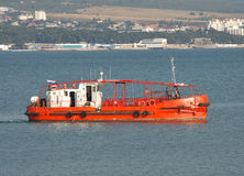 Harbor rescue boat Stock Photo