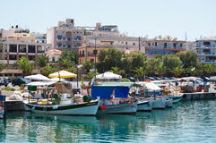 Harbor in Rethymnon. The charming harbor in Rethymnon on Crete Royalty Free Stock Images