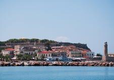 Harbor in Rethymnon Royalty Free Stock Photo