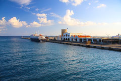 Harbor of Rhodos City.Greece. Stock Photo