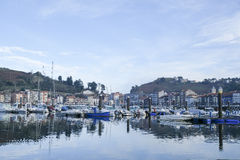 Harbor in Ribadesella, Spain. Stock Photos