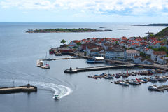 The Harbor of Risor, Norway Royalty Free Stock Photo