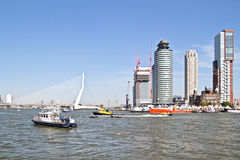 Harbor from Rotterdam in the Netherlands Stock Image