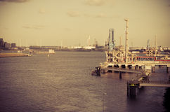 Harbor of Rotterdam Stock Images
