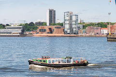 Harbor round trip on the Elbe river in Hamburg Royalty Free Stock Photography