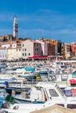 Harbor In Rovinj And Church Tower-Istria,Croatia Stock Images