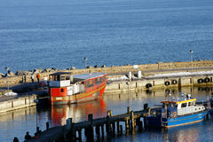 Harbor of Sa�nitz Stock Images