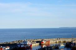 Harbor of Sa�nitz Stock Photography