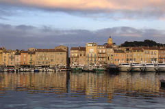 Harbor in Saint Tropez, French Riviera, Stock Photo