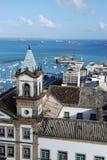 Harbor of Salvador. Church at the harbor of Salvador de bahia royalty free stock photo