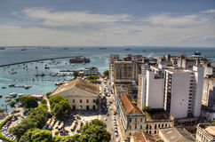 Harbor of Salvador. View over the harbor of Salvador, Brazil Stock Image