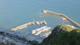 Harbor of san felice circeo. From above Royalty Free Stock Photos