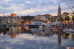 The harbor of Sanary sur Mer. In Provence in the french Riviera in the south of France royalty free stock images