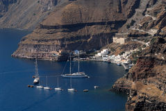 Harbor of Santorini, Greece Royalty Free Stock Photography