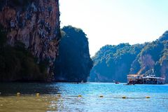 Harbor, sea port, Phang-Nga bay, Thailand Royalty Free Stock Photos