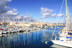 Harbor of Sete, Languedoc, - south of France royalty free stock photo