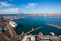 Harbor Ships Economy Air Photo Stock Image