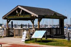 Harbor Shuttle and Ferry Landing, Newport, RI. Royalty Free Stock Photos