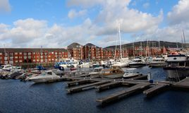 Harbor side of Swansea, Wales,UK Stock Images