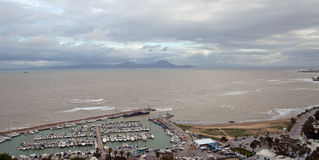 Harbor of Sidi bou Said Royalty Free Stock Image