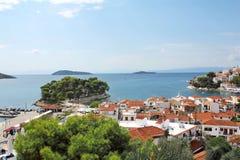 Harbor of Skiatos Greece 12. The port of Skiatos, Greece Royalty Free Stock Photo