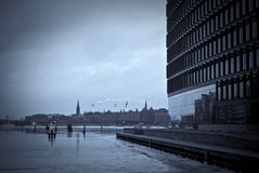 Harbor and skyline from Copenhagen Stock Photography