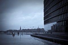 Harbor and skyline from Copenhagen Stock Photography