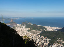 Harbor and skyline of Rio de Janeiro Brazil Royalty Free Stock Photography