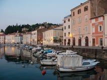 Harbor in Slovenia Royalty Free Stock Photos