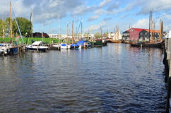 Harbor. Small harbor in the beautiful city of Elborg, Netherlands Stock Photo