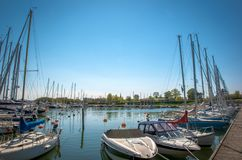 Harbor. A small harbor in Copenhagen whit beautiful boats Royalty Free Stock Images