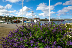 The harbor in a small Swedish town, Sweden Stock Images