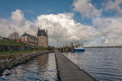 In the harbor. In a small town Veere, Netherlands Royalty Free Stock Image