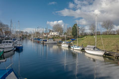 In the harbor. In a small town Veere, Netherlands Royalty Free Stock Images