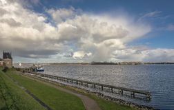 In the harbor. In a small town Veere, Netherlands Royalty Free Stock Photography