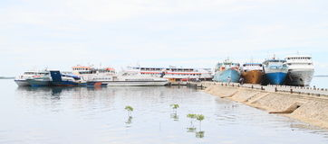 Harbor in Sorong. View on small harbor in Sorong (Papua Barat, Indonesia royalty free stock photos