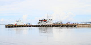 Harbor in Sorong. View on small harbor in Sorong (Papua Barat, Indonesia royalty free stock photography