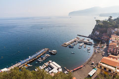 Harbor in Sorrento Stock Photo