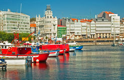Harbor in Spain Stock Images