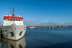 Harbor of Spiekeroog, Germany Stock Photography