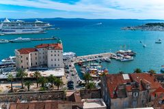 Harbor, Split Croatia Royalty Free Stock Images