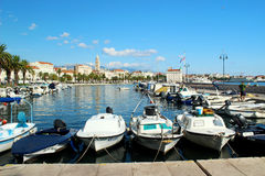 Harbor in Split, Croatia. View of the harbor in Split, Croatia Royalty Free Stock Image