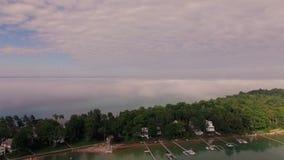 Harbor- Springsantenne stock video footage
