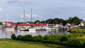 Harbor at St Michaels on Chesapeake Bay Stock Photography