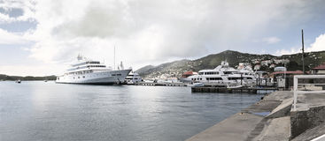The Harbor of St. Thomas Stock Images