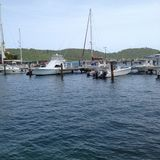 Harbor in St. Thomas Stock Image